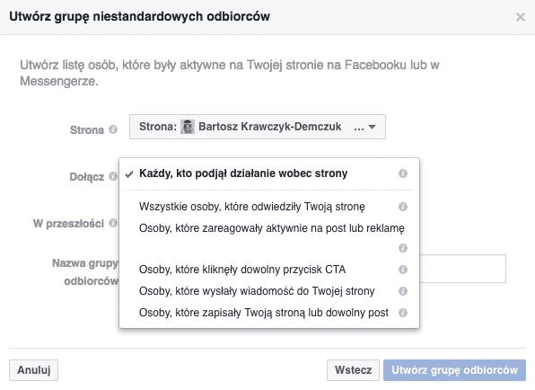Targetowanie naFacebooku